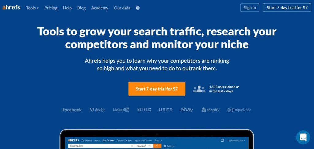 website tools ahrefs