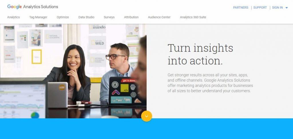 website tools google analytics