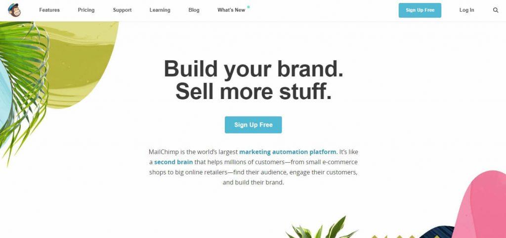 tools for website mailchimp